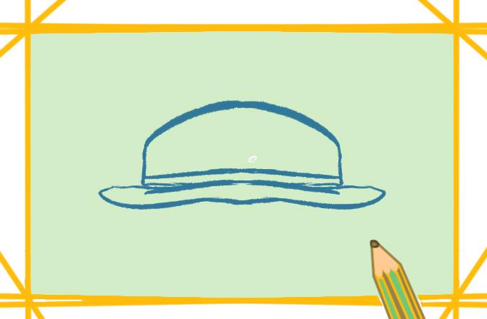 普通的帽子上色简笔画要怎么画