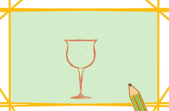 一杯好看的橙子汁上色简笔画要怎么画