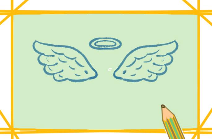 天使的翅膀簡筆畫圖片要怎么畫