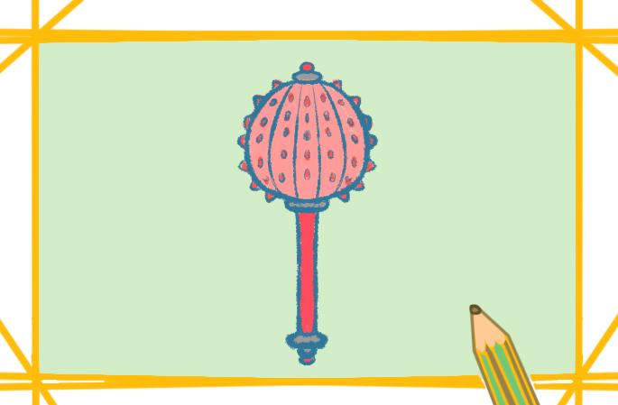 武器之铁锤上色简笔画图片教程