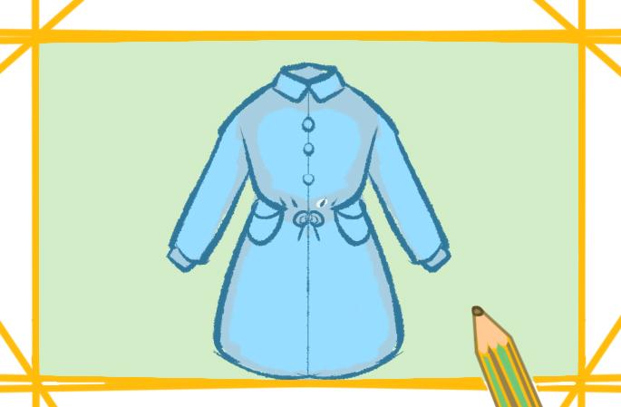 漂亮好看的连衣裙上色简笔画要怎么画