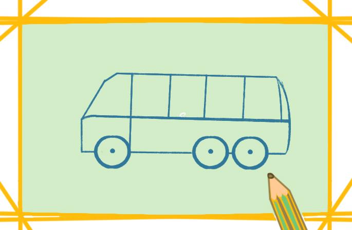 交通工具汽车上色简笔画图片教程步骤