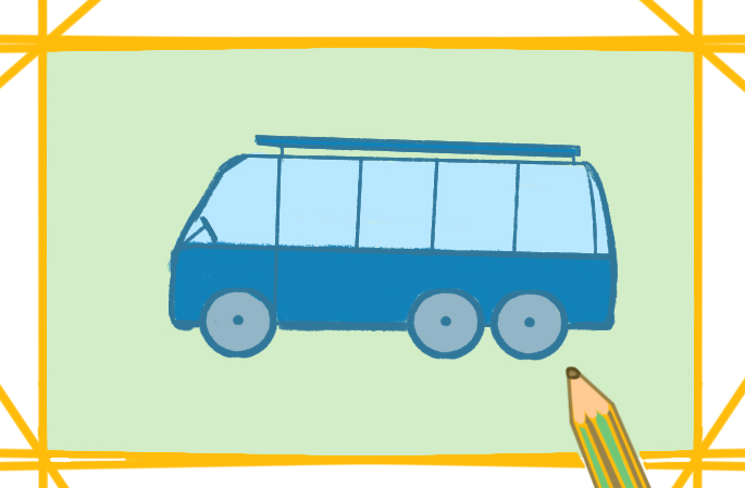 交通工具汽車上色簡筆畫圖片教程步驟