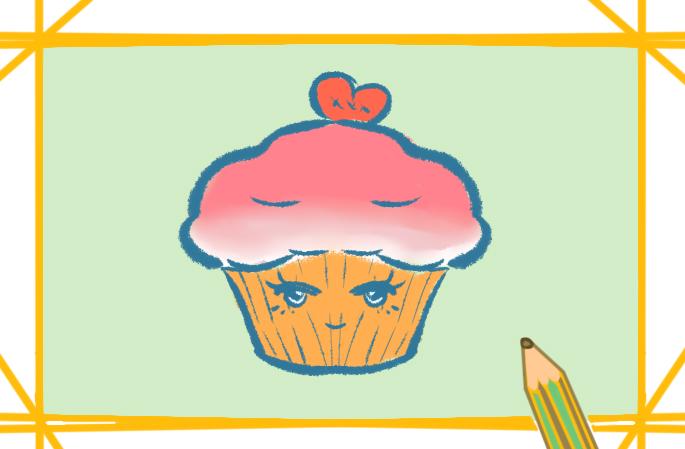 美味的蛋糕简笔画图片教程步骤