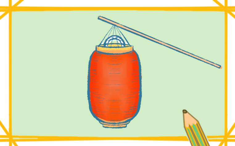 红灯笼简笔画带颜色怎么画