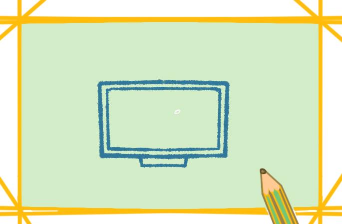 好看的大电视机上色简笔画要怎么画
