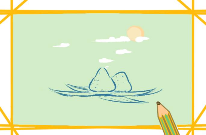端午节创意画上色简笔画要怎么画