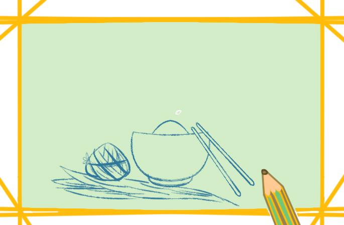 端午节漂亮插图上色简笔画图片教程