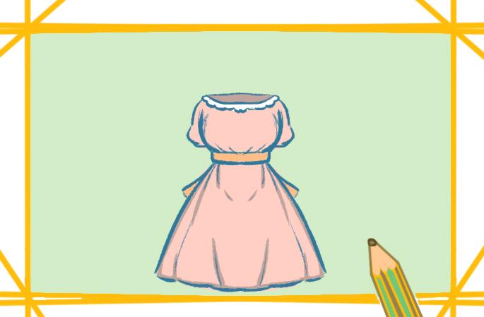 公主的蓬蓬裙上色简笔画要怎么画