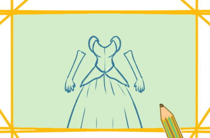 灰姑娘的公主裙简笔画图片教程步骤
