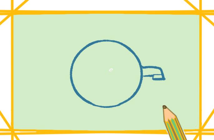 环保画之节约用水上色简笔画要怎么画