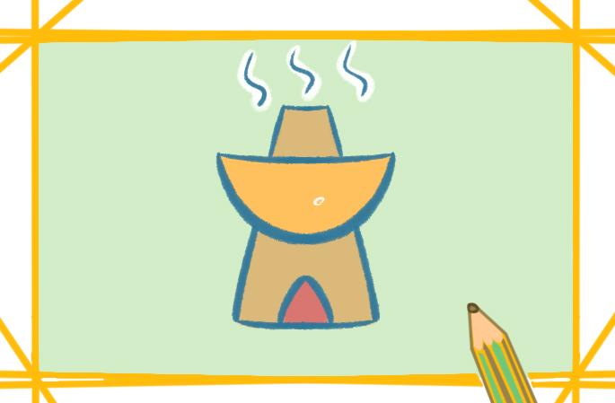 香喷喷的火锅上色简笔画要怎么画