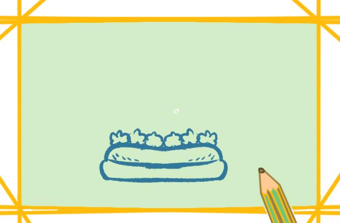 好吃的牛肉汉堡上色简笔画要怎么画