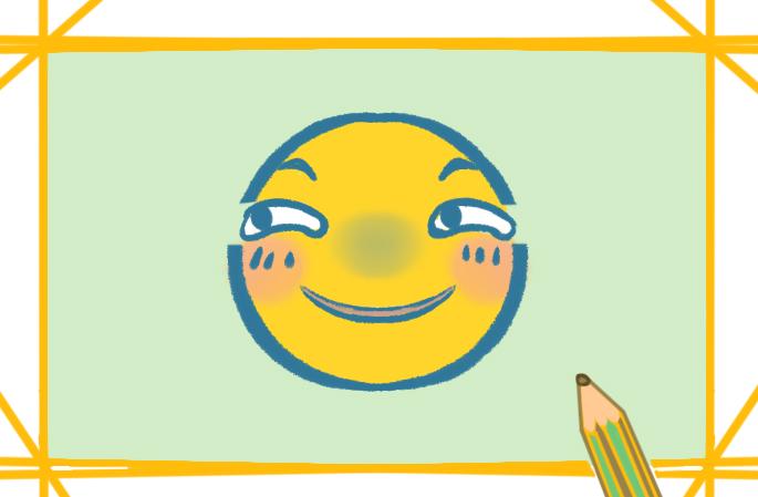 滑稽的小表情上色简笔画要怎么画