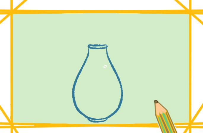 彩色漂亮花瓶簡筆畫的圖片怎么畫