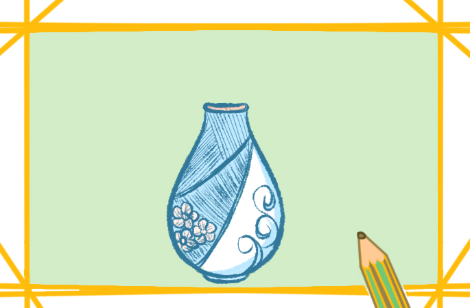 美丽的花瓶上色简笔画要怎么画