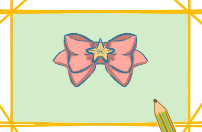 蝴蝶结领带上色简笔画要怎么画