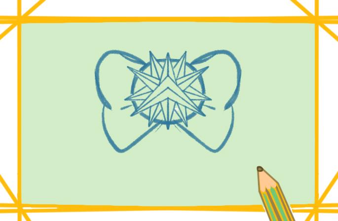 精致的蝴蝶结上色简笔画要怎么画