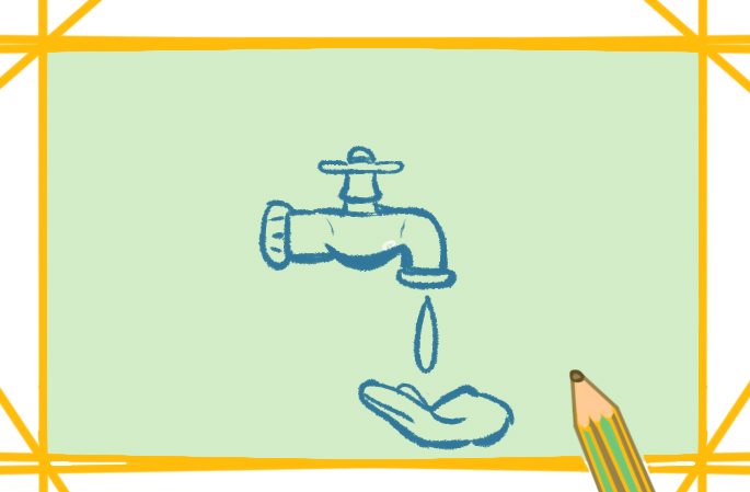 簡單好看的水龍頭上色簡筆畫要怎么畫