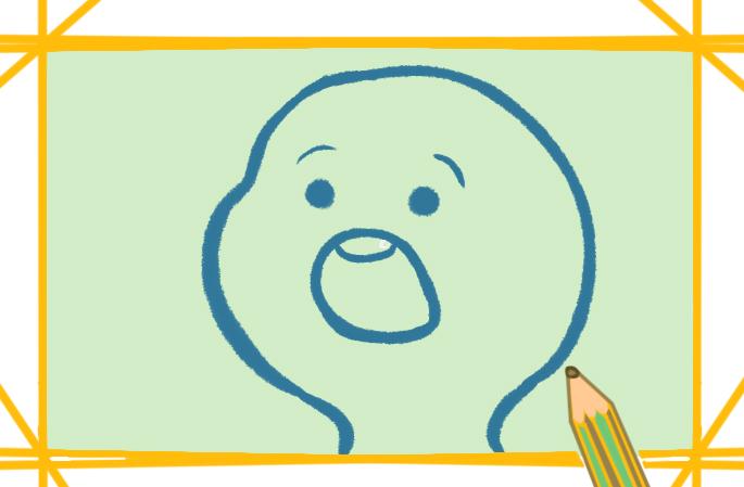 惊讶的表情上色简笔画要怎么画