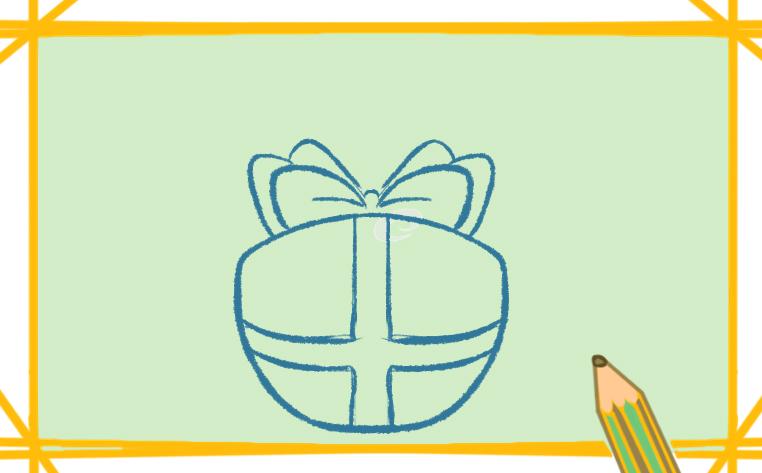 礼物盒简笔画带颜色怎么画可爱