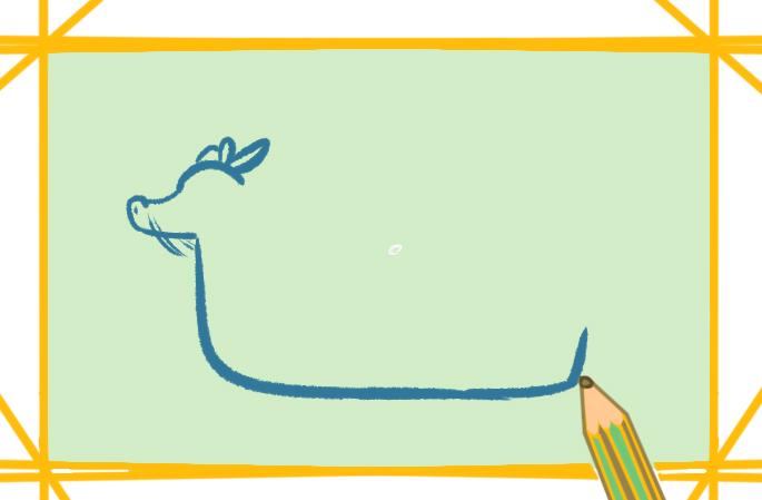 端午龍舟船上色簡筆畫圖片教程