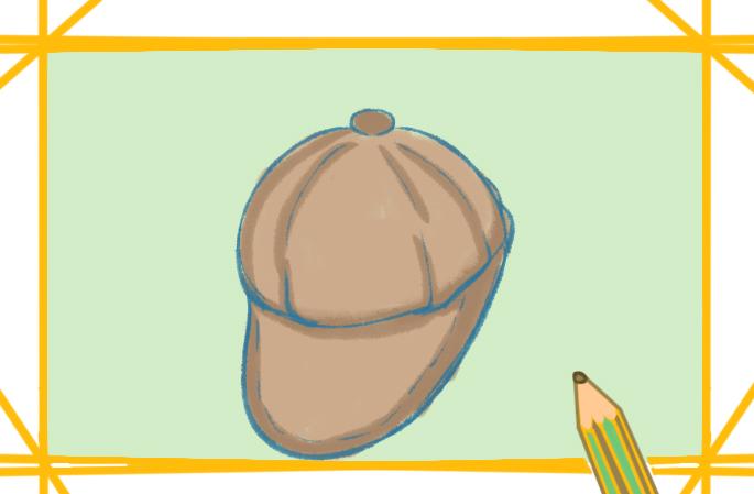 时尚帽子上色简笔画要怎么画