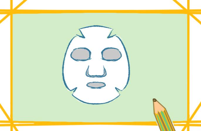 白色的面膜上色简笔画要怎么画