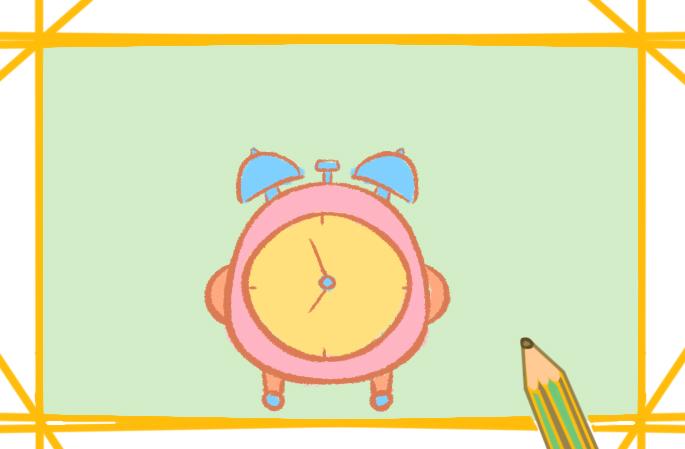 可爱的闹钟上色简笔画要怎么画