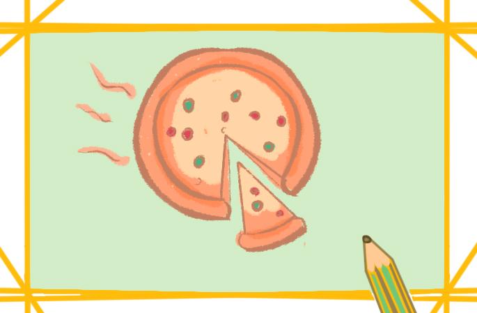 美食披萨简笔画怎么画