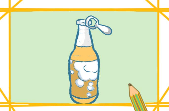 好看又简单的啤酒瓶上色简笔画要怎么画