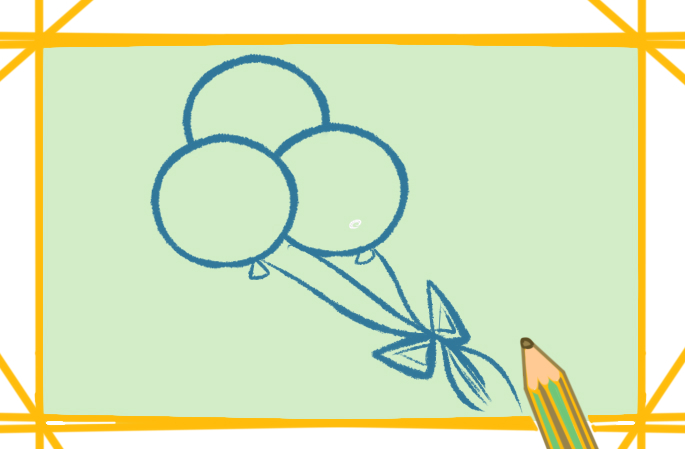 簡單的氫氣球上色簡筆畫要怎么畫