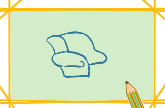 單人的沙發上色簡筆畫要怎么畫