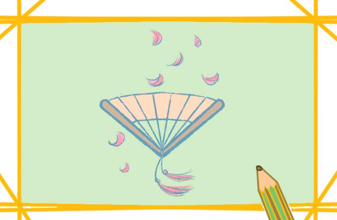 折扇兒童畫怎么畫簡單好看