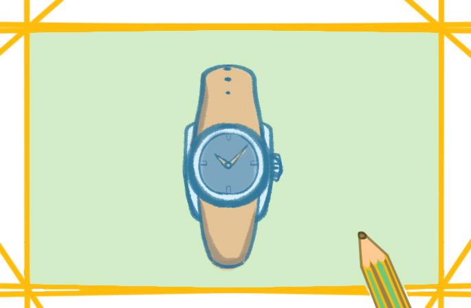 男士手表上色簡筆畫圖片教程