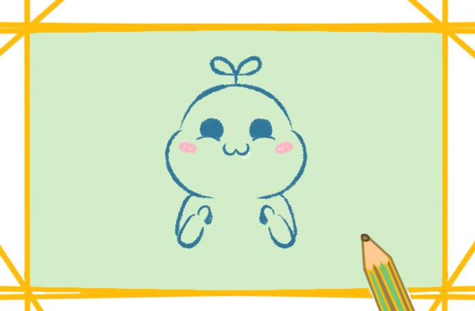 贪吃的宝宝简笔画图片教程步骤