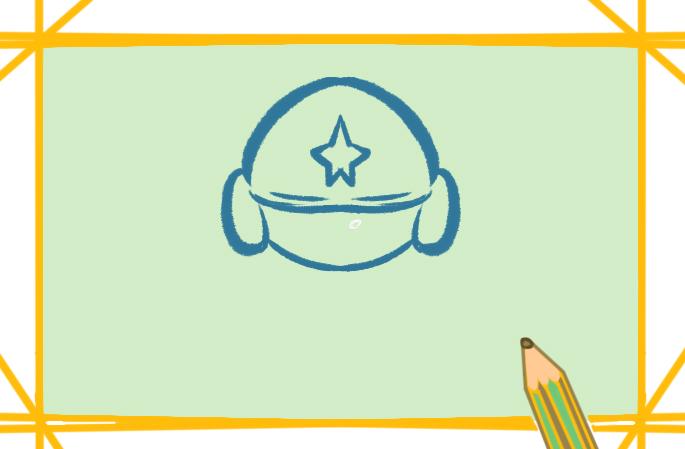 摩托的头盔上色简笔画图片教程步骤