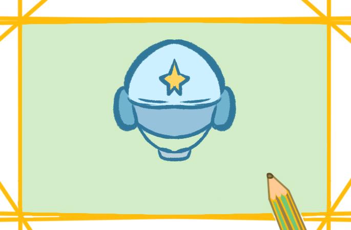 摩托車頭盔上色簡筆畫要怎么畫