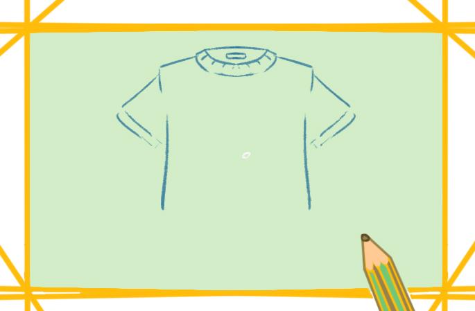 好看的短袖上色簡筆畫圖片教程
