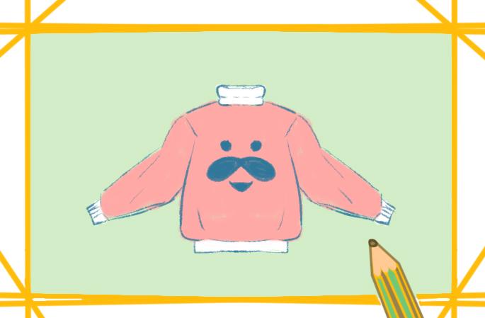 冬季的卫衣简笔画图片怎么画