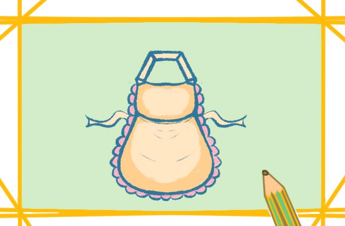 漂亮的围裙简笔画好看简单怎么画