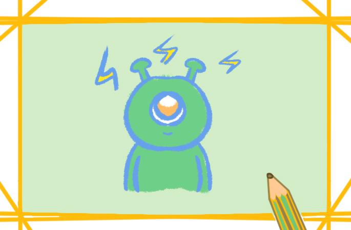 可爱的外星人简笔画怎么画