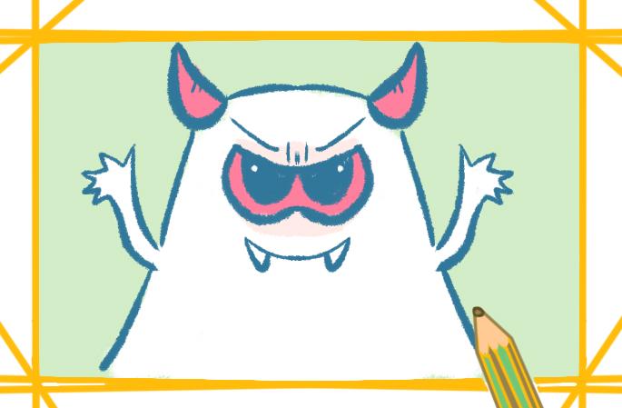 可爱卡通的恶魔简笔画怎么画
