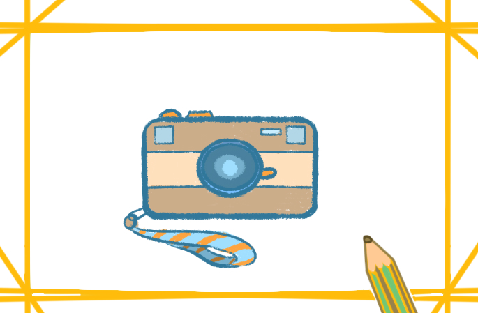 漂亮的照相機簡筆畫怎么畫