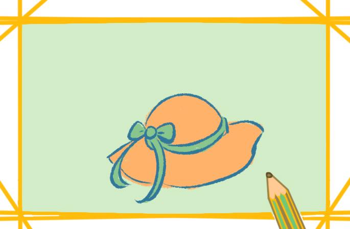 女士的帽子简笔画怎么画