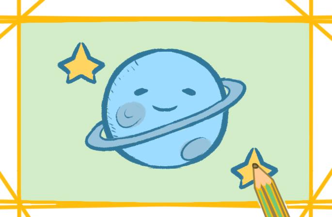 宇宙中的行星上色簡筆畫要怎么畫