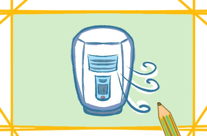 立式的空调上色简笔画图片教程步骤
