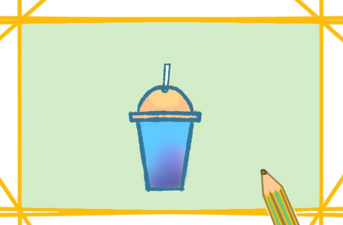 漂亮的饮料杯原创简笔画怎么画