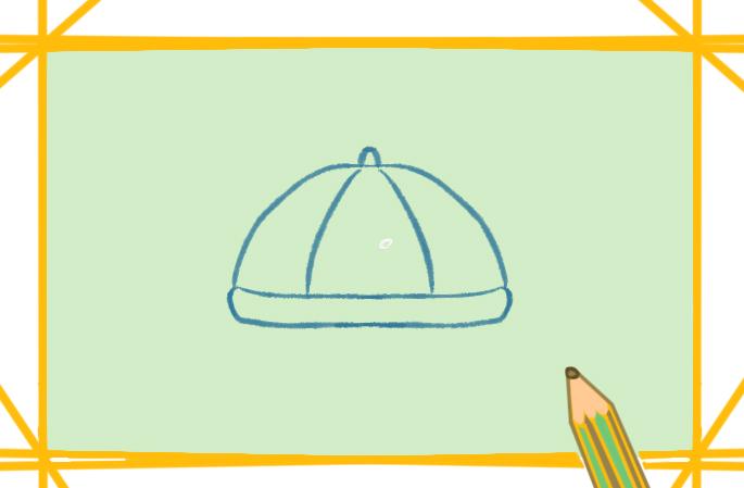 唐裝帽子上色簡筆畫要怎么畫