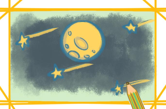 美麗的行星簡筆畫教程步驟圖片大全